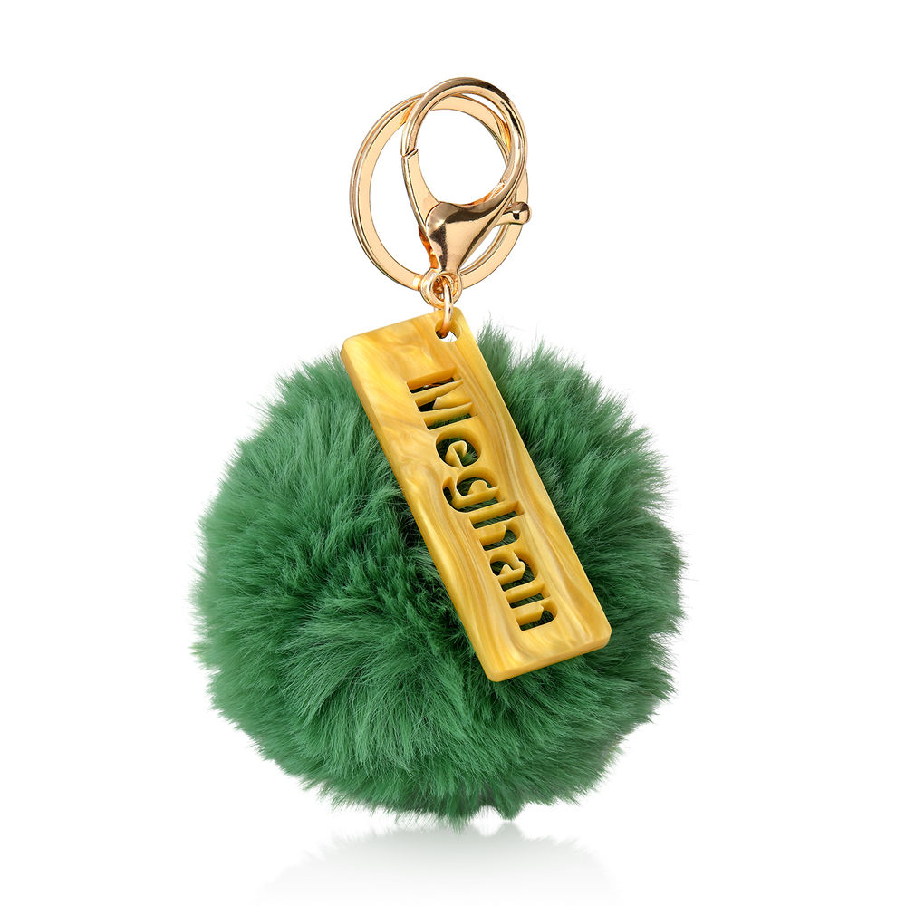 Custom Pom Pom Keychain & Bag Charm