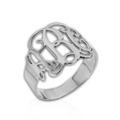 Mix & Match Monogram Ring & XXL Monogram Necklace Set - 2