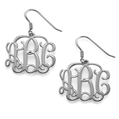 Mix and Match Small Monogram Necklace & Earrings Set - 2