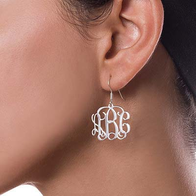 Mix and Match Small Monogram Necklace & Earrings Set - 4