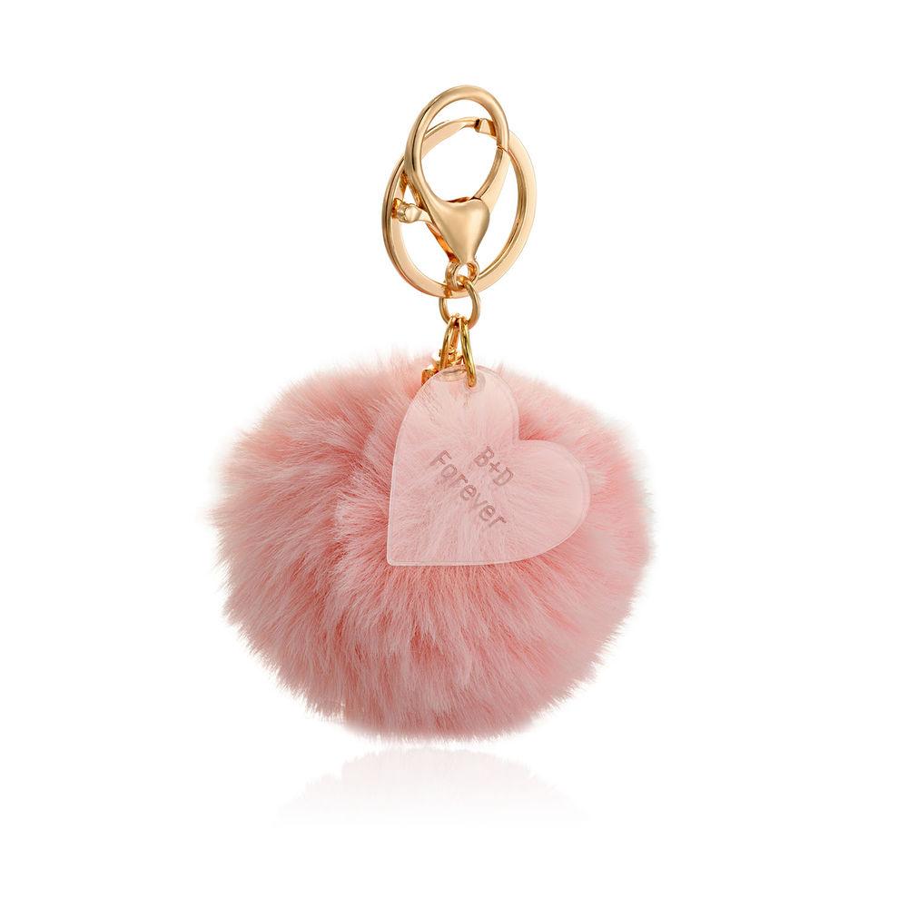 Custom Pom Pom Keychain & Heart Charm