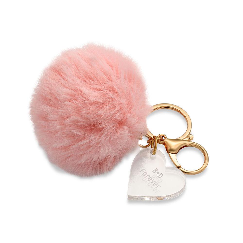 Custom Pom Pom Keychain & Heart Charm - 1
