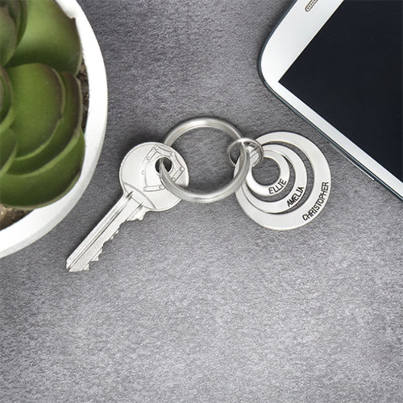 Gift for Mom - Three Disc Engraved Keychain - 2