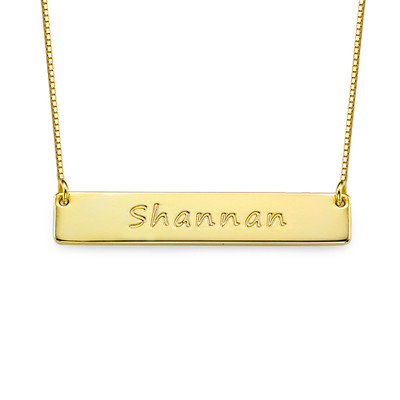 Layer it Up: Engraved Bar Necklace + Initial Necklace - 1
