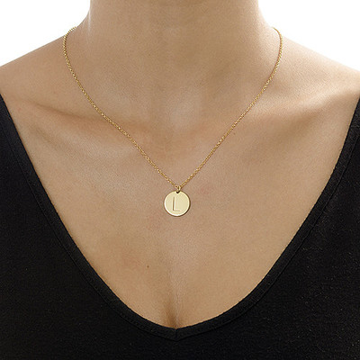 Layer it Up: Engraved Bar Necklace + Initial Necklace - 4