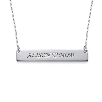 For Moms & Daughters: Engraved Nameplate Necklace Set - 2