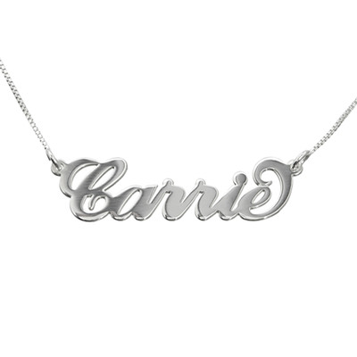 Layer it Up: Name Necklace + Engraved Bar Necklace - 1