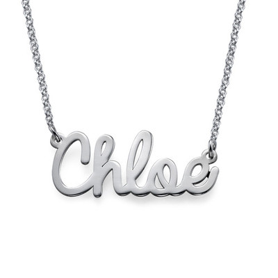 For Him and Her: Dog Tag Necklace + Name Necklace - 1