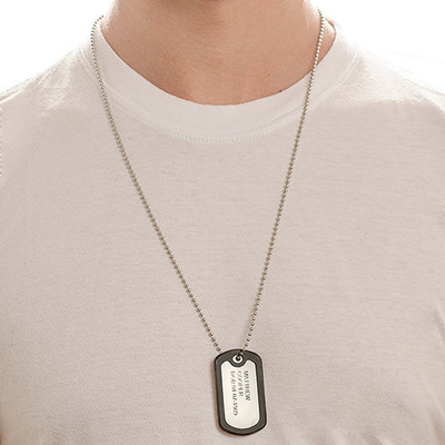 For Him and Her: Dog Tag Necklace + Name Necklace - 4