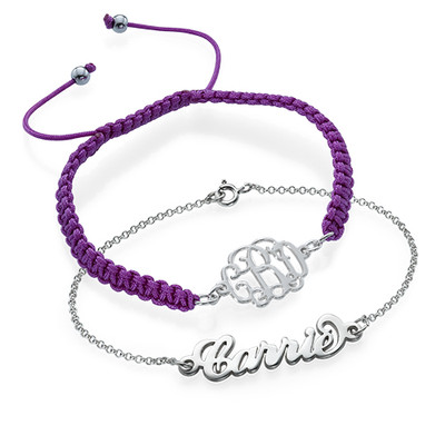 Arm Candy: Name Bracelet + Cord Bracelet
