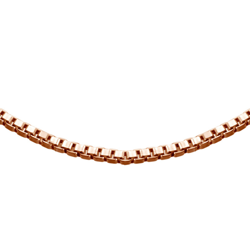 Box Chain - Rose Gold Plated - 1