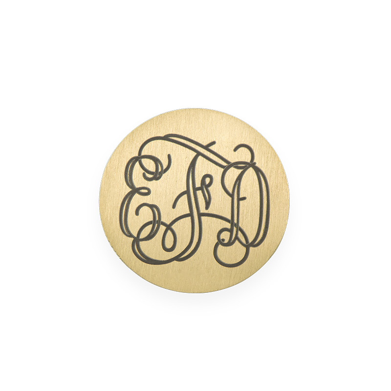 Floating Locket Plate - Disc with Monogram