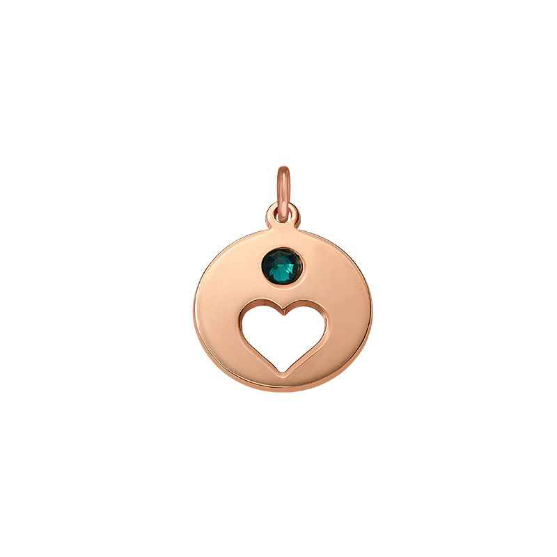 Birthstone Charm – Rose Gold plated