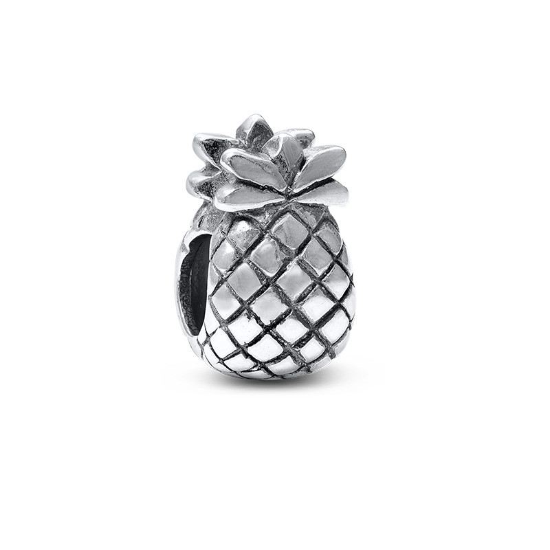 Pineapple Silver Bead