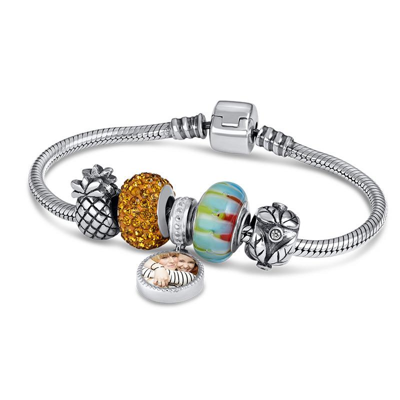 Pineapple Silver Bead - 1