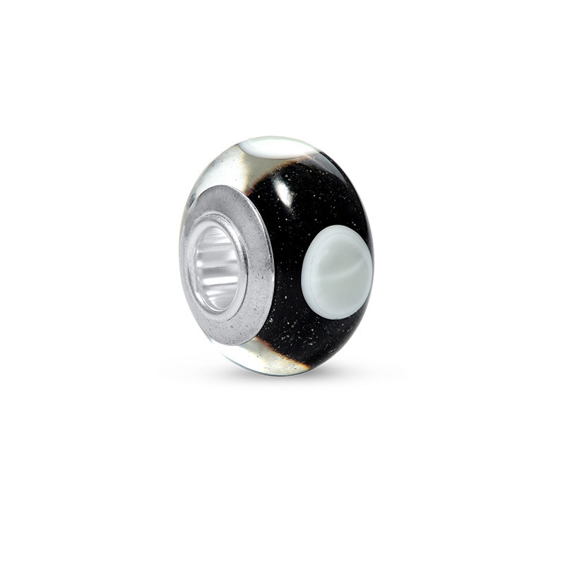 Black & White Glass Bead