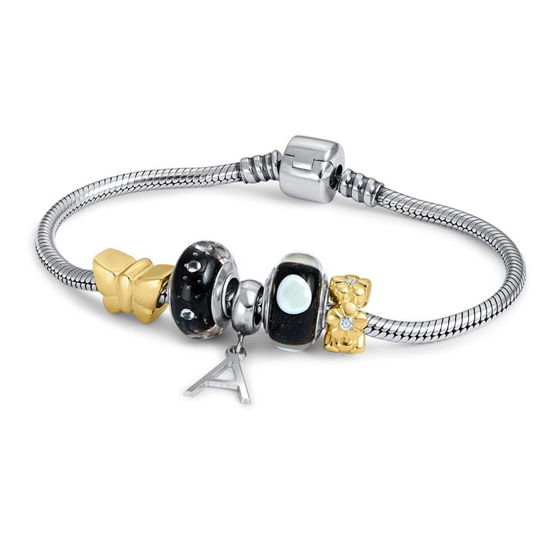 Black & White Glass Bead - 1