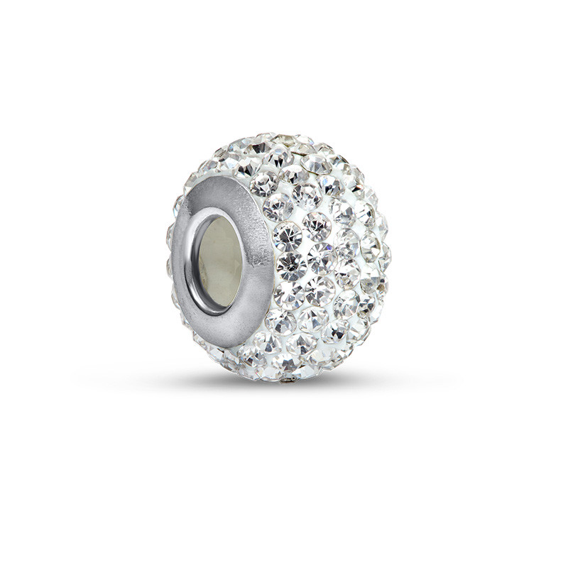 Crystal Birthstone Bead with Cubic Zirconia