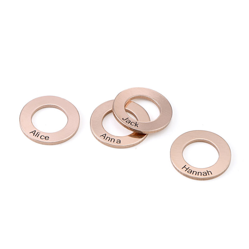 Circle Charm for Bangle Bracelet in Rose Gold plating