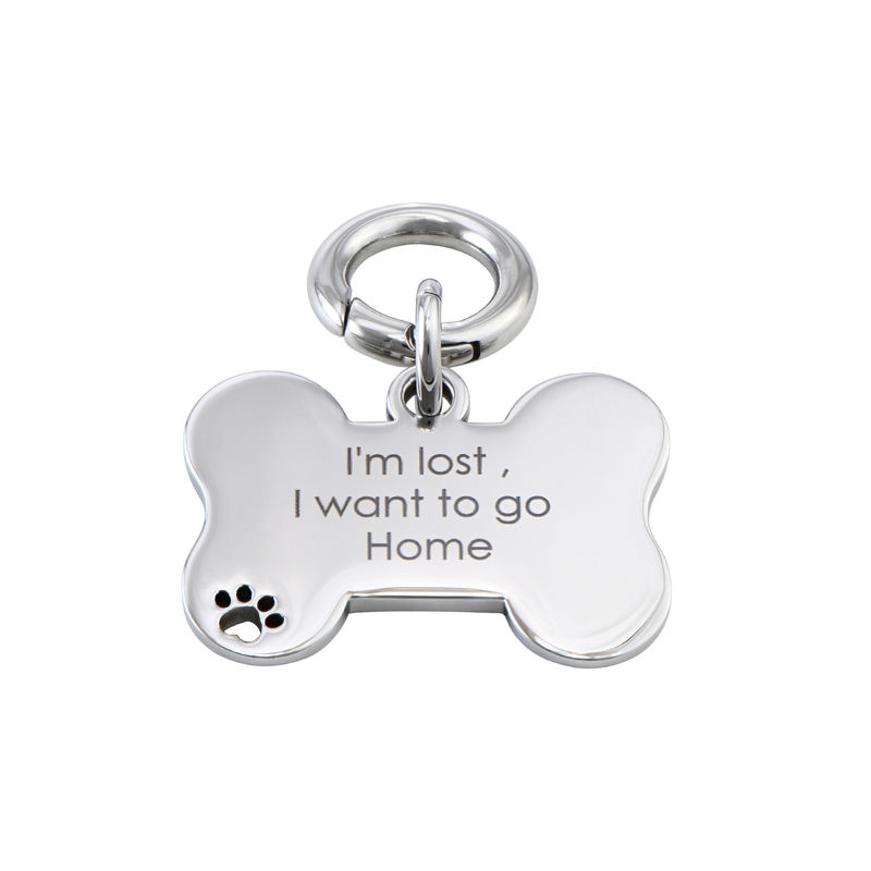 Personalized Cat or Dog Id Tag Bone Shaped - 1