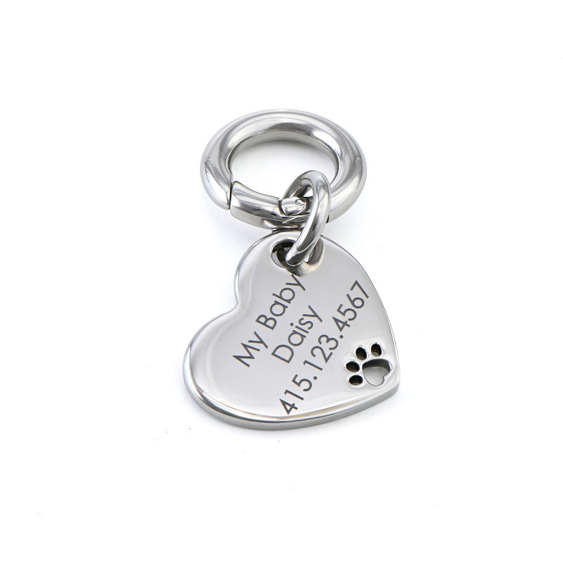Custom Engraved Pet Id Tag for Dogs and Cats Heart Shaped