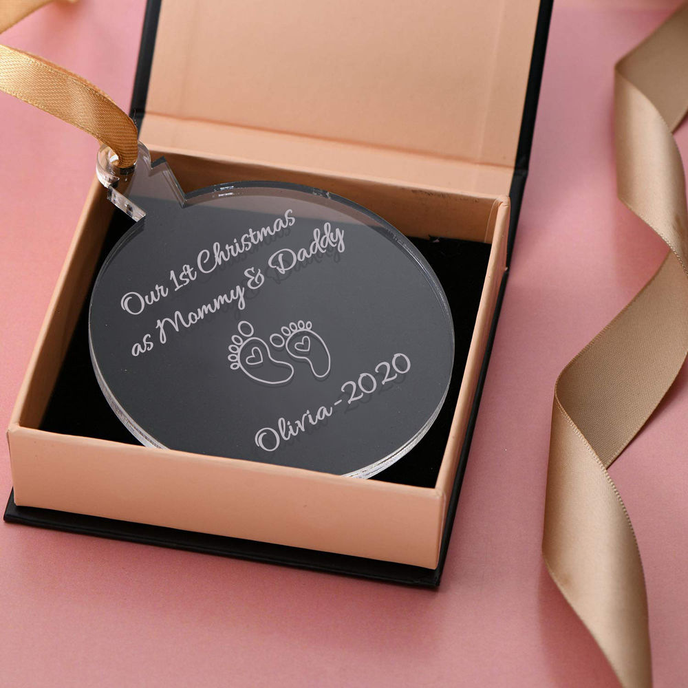 Baby's First Personalized Christmas Ornament - 1