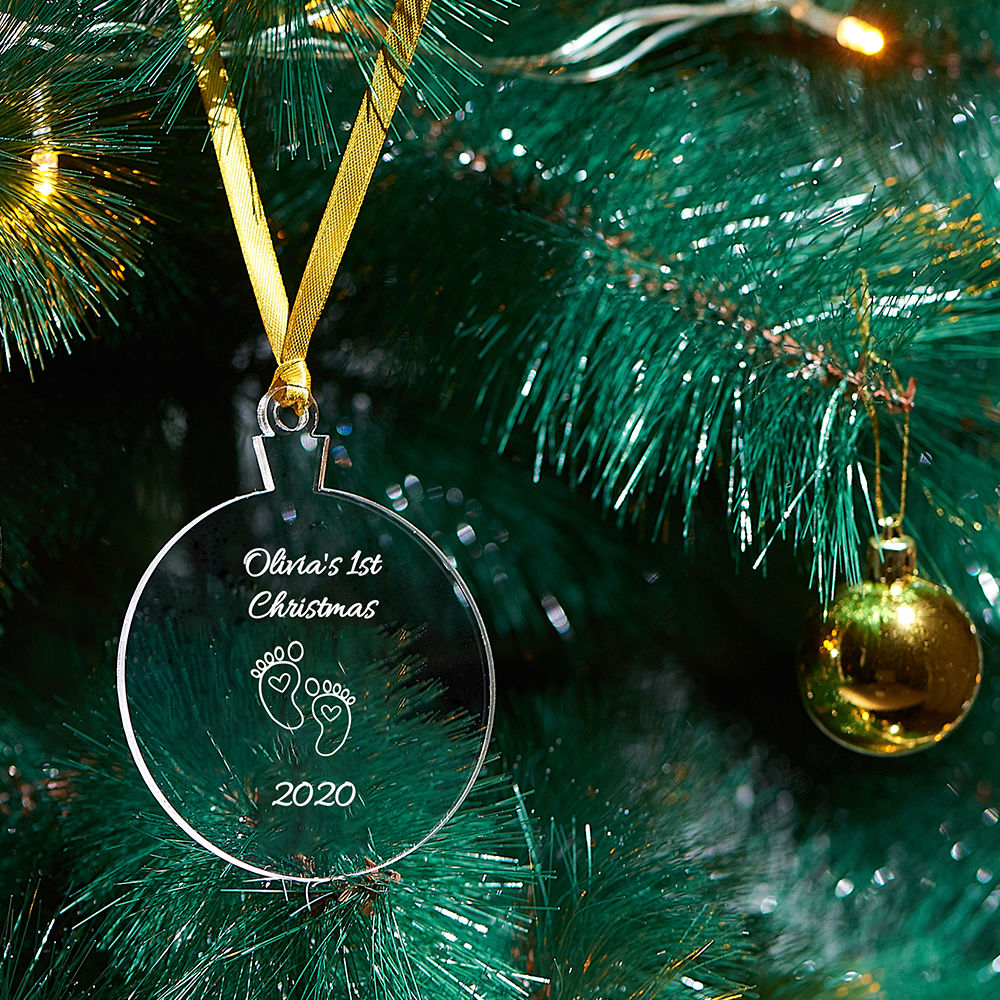 Baby's First Personalized Christmas Ornament - 2