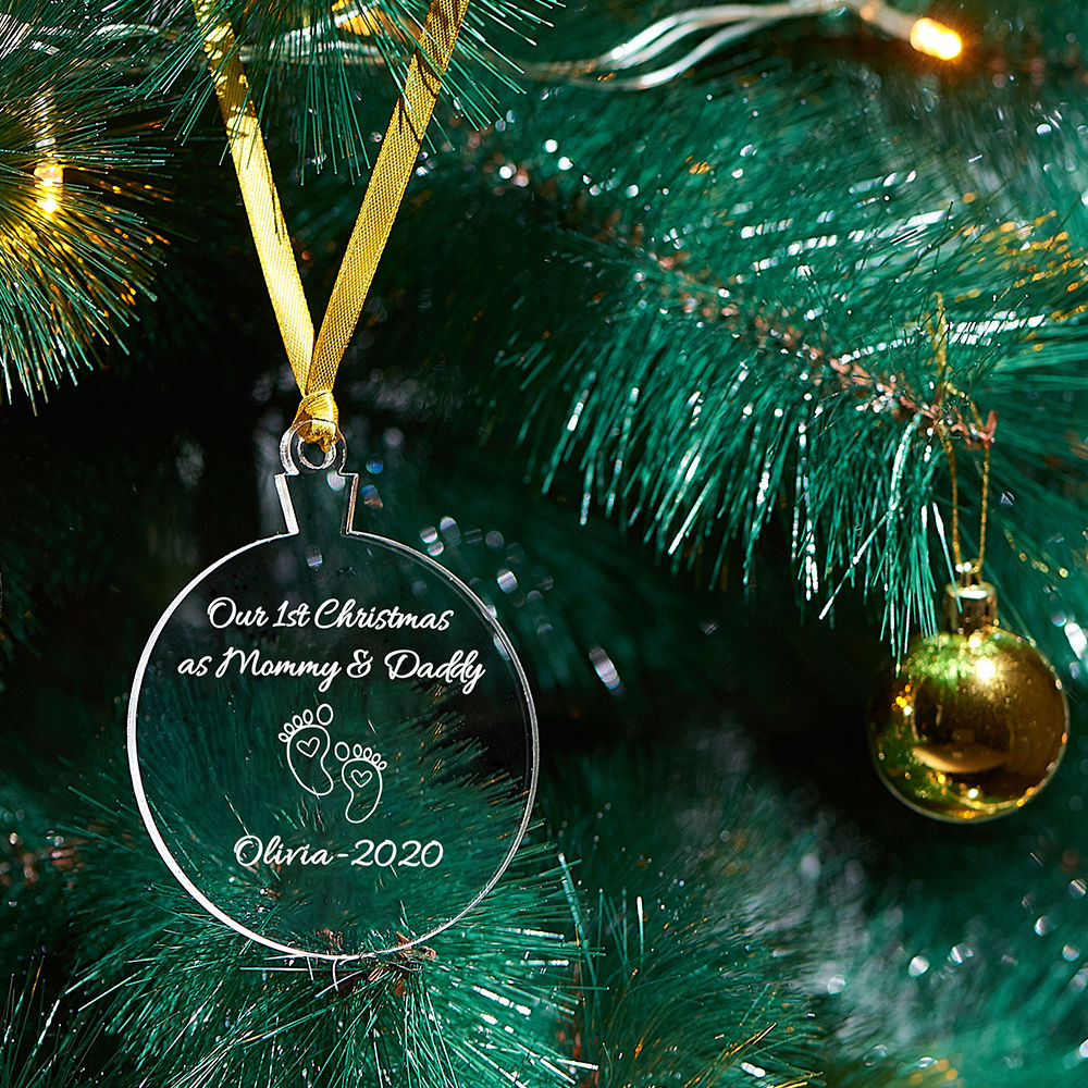 Baby's First Personalized Christmas Ornament - 3