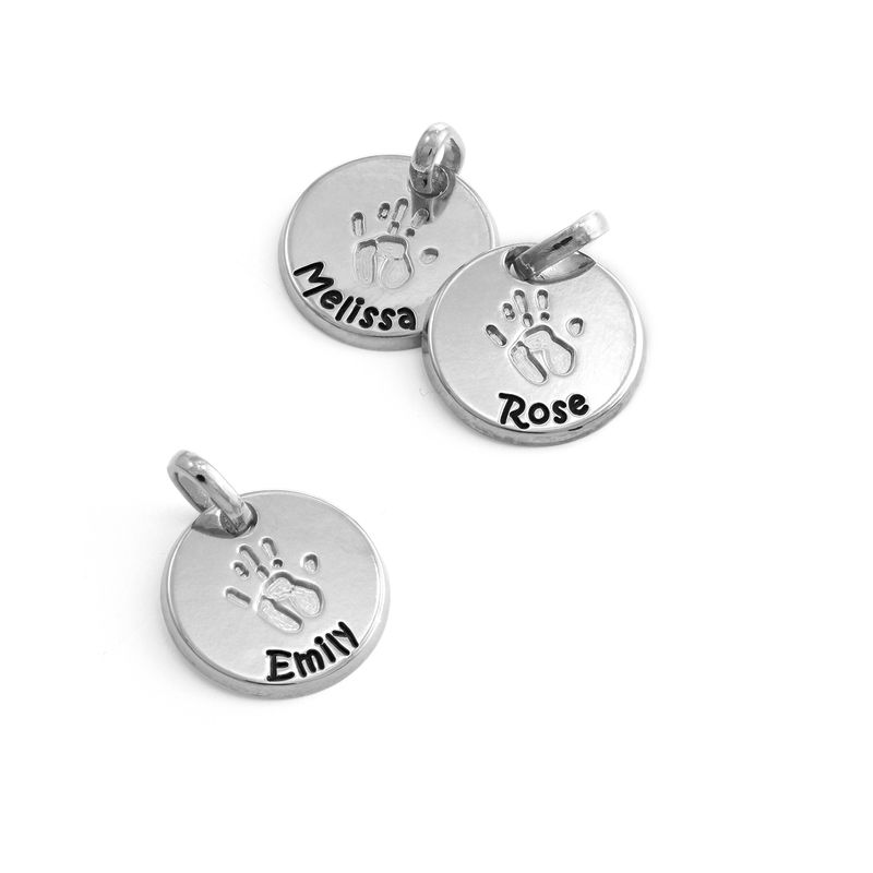 Baby Hand Engraved Charms in Sterling Silver - 1
