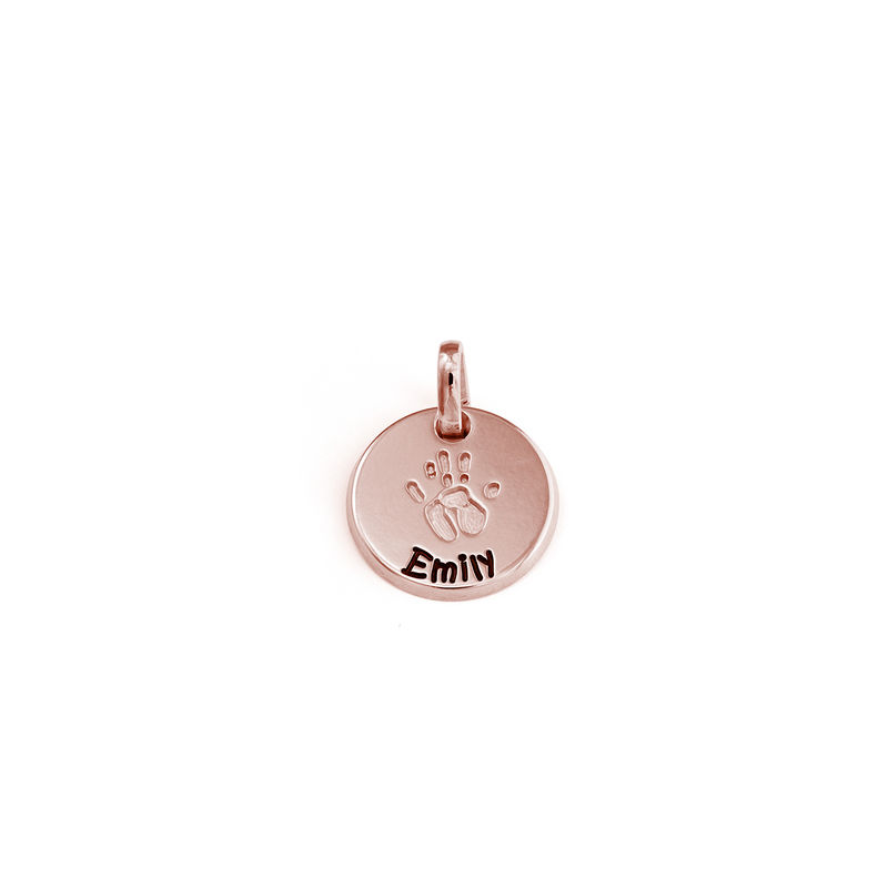 Baby Hand Engraved Charm in Rose Gold Plating