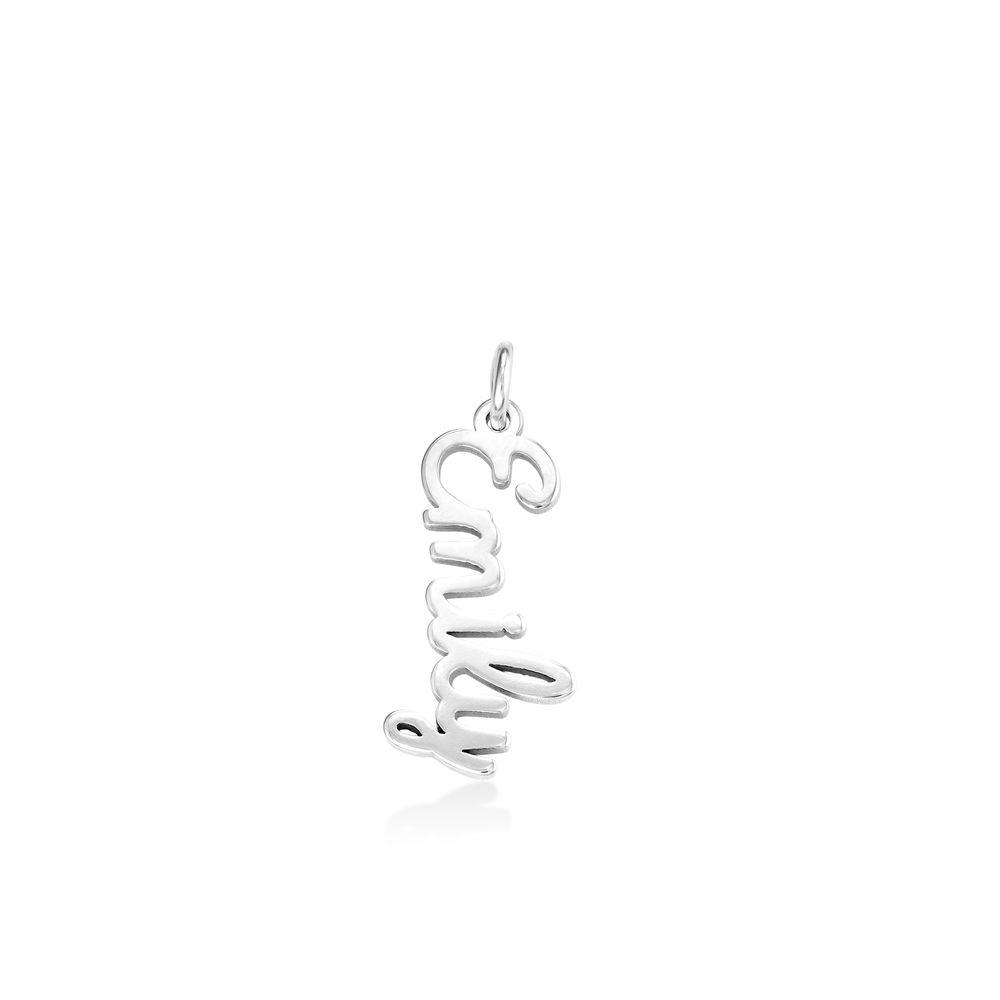 Vertical Name Pendant in Cursive in Sterling Silver