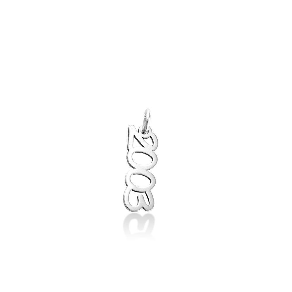 Vertical Name Pendant in Cursive in Sterling Silver - 1