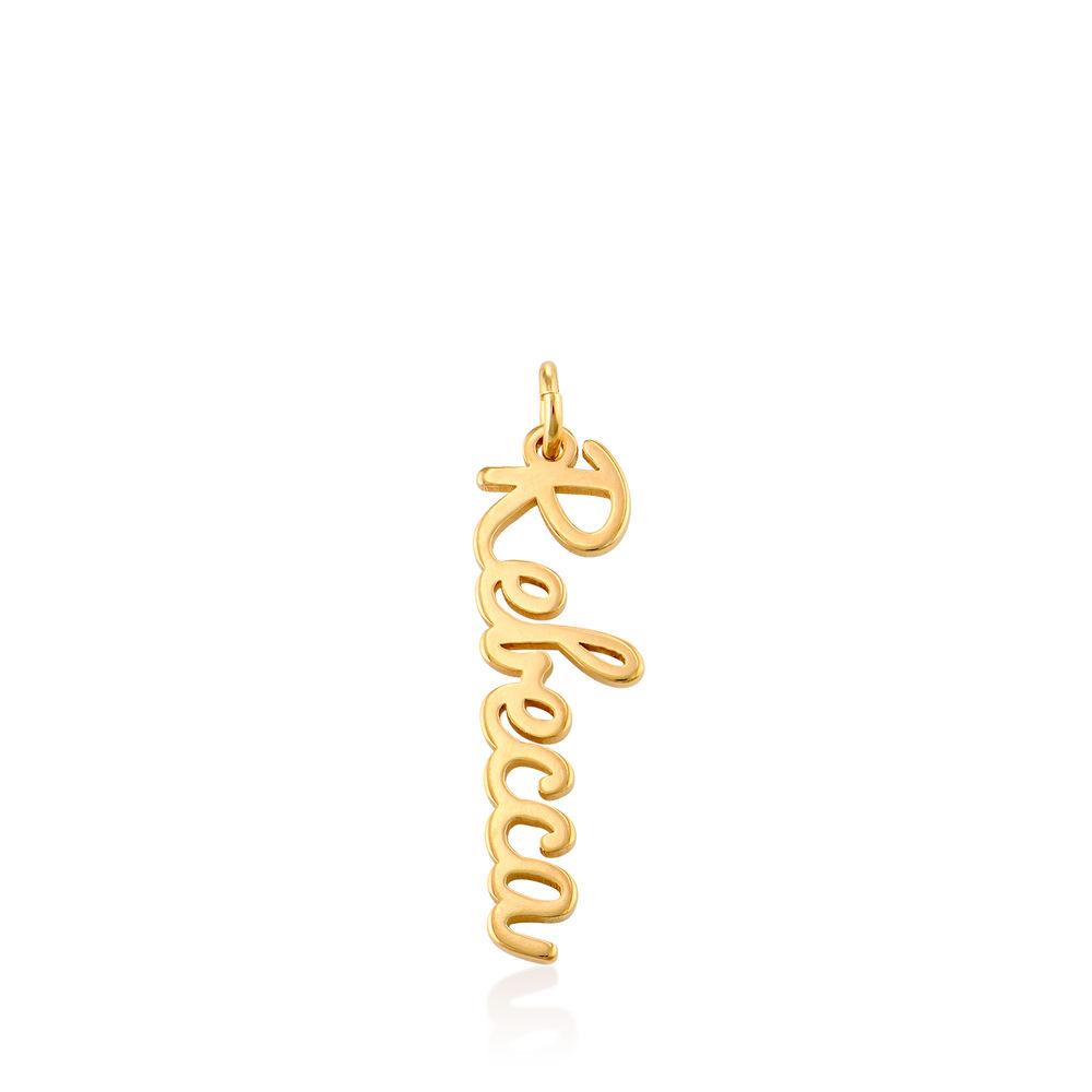 Vertical Name Pendant in Cursive in Gold Vermeil
