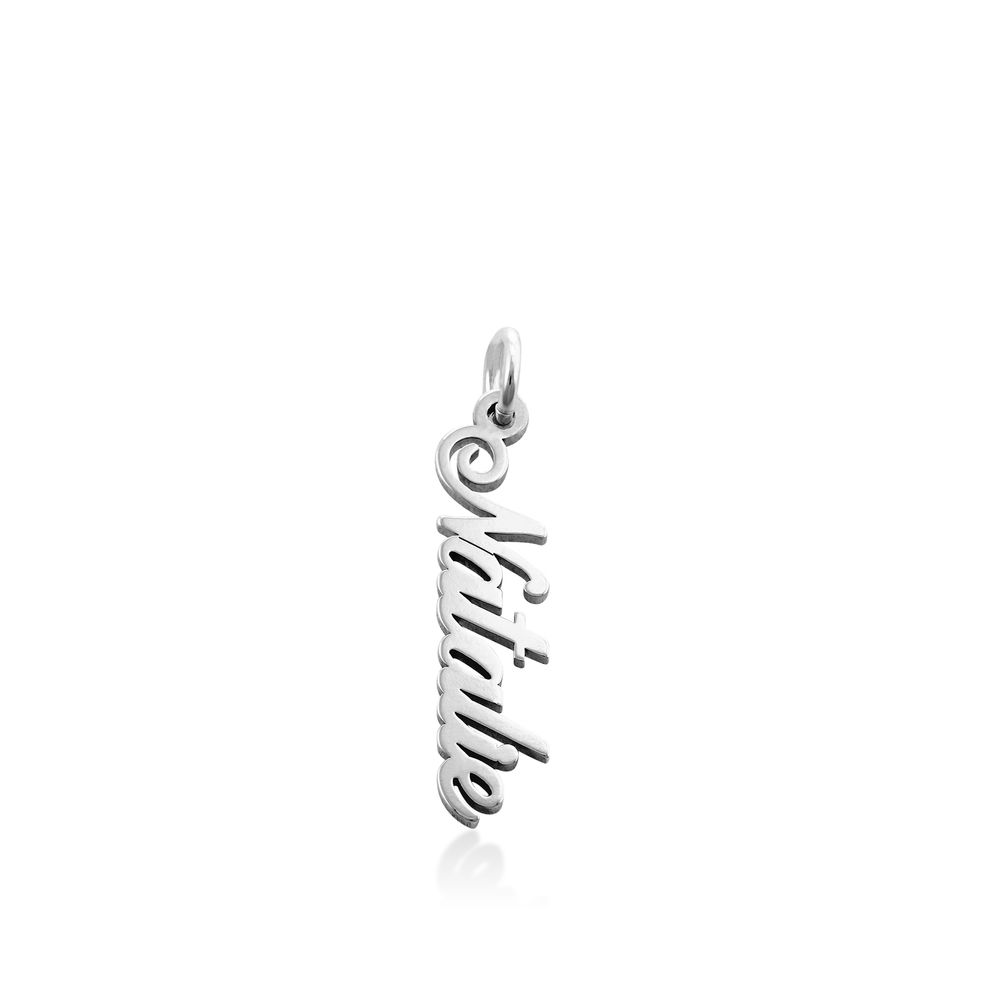 Vertical Name Pendant in Sterling Silver