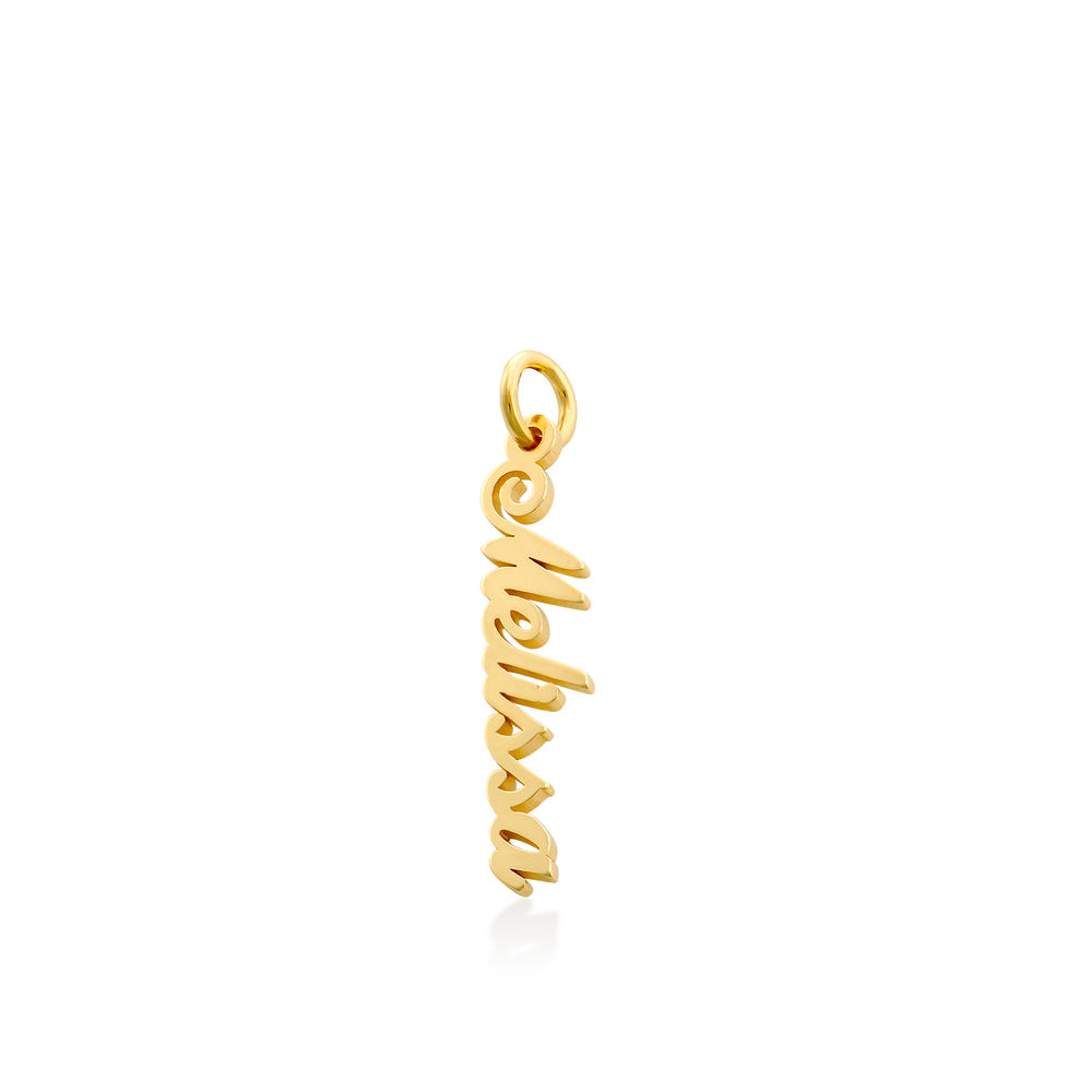 Vertical Name Pendant in Gold Plated