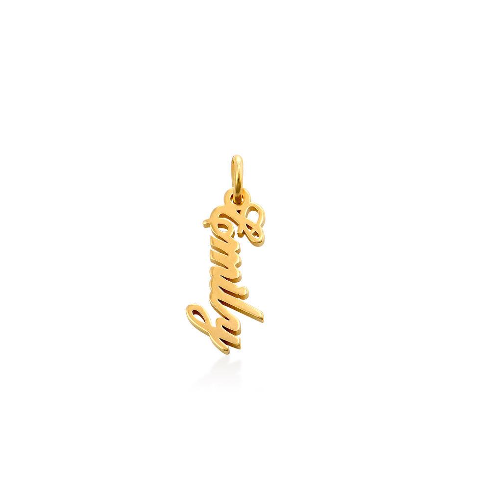 Vertical Name Pendant in Gold Vermeil