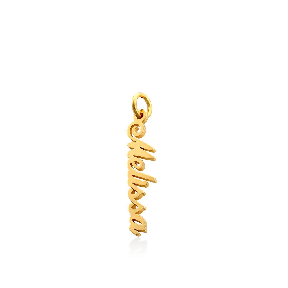 Vertical Name Pendant in Gold Vermeil - 1