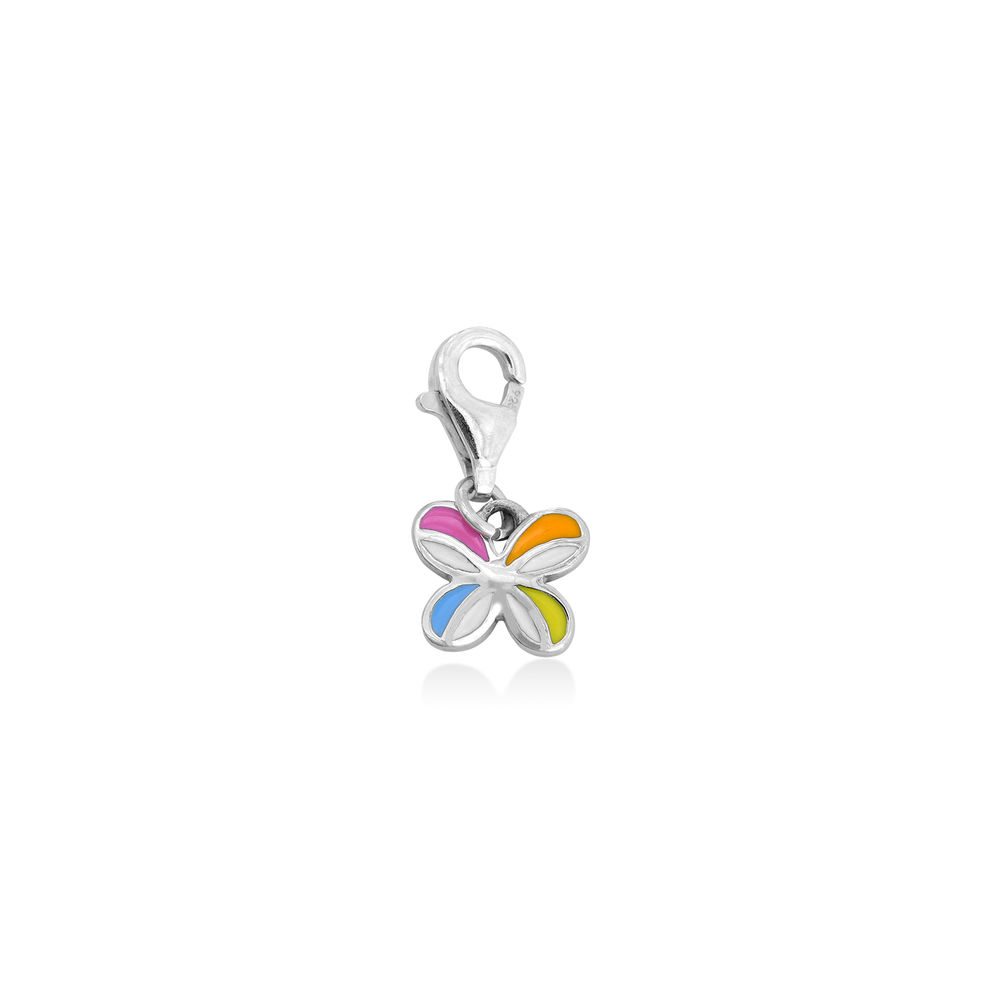 Multi-Color Butterfly Charm in Sterling Silver
