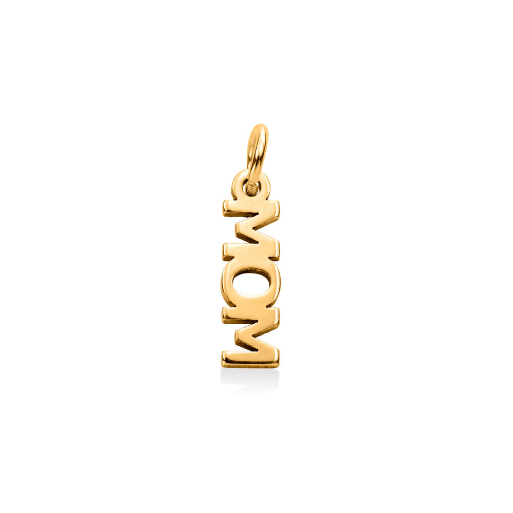 Mom Charm in Gold Vermeil for Linda Necklace