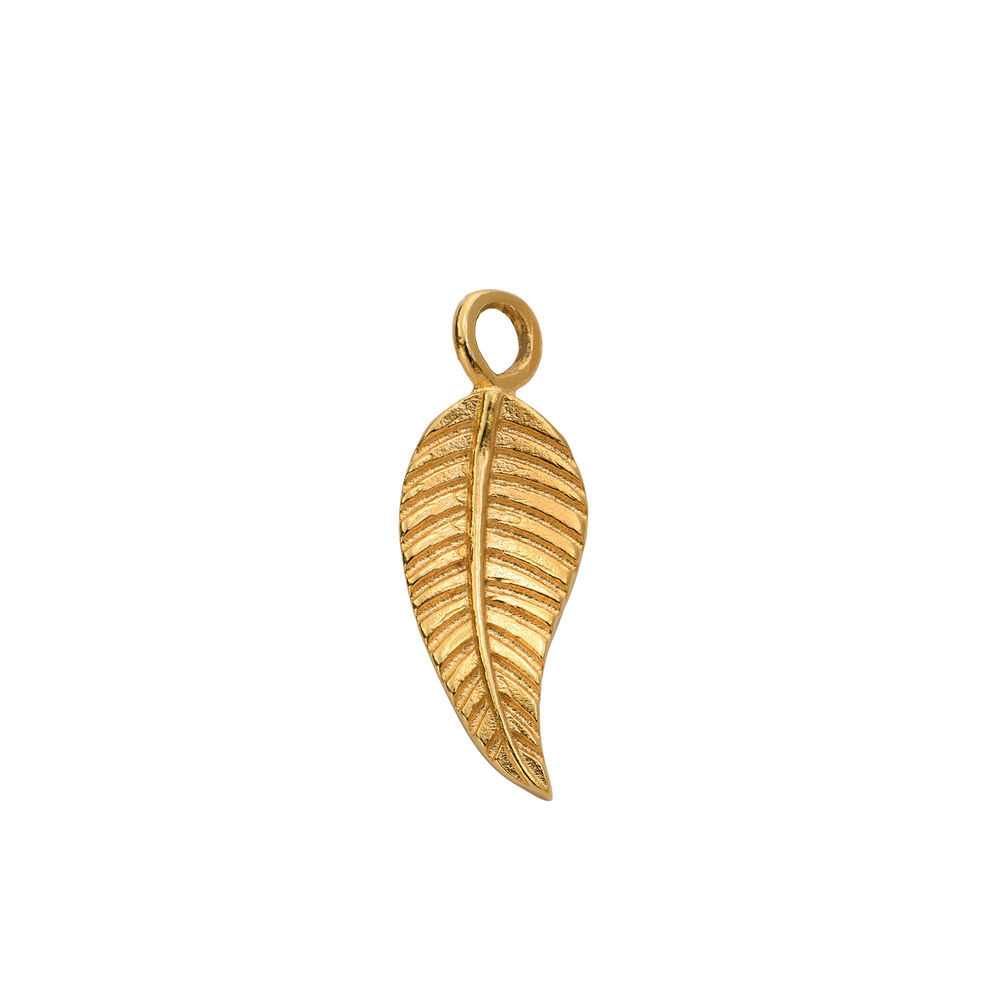 Leaf Charm in Gold Vermeil for Linda Necklace