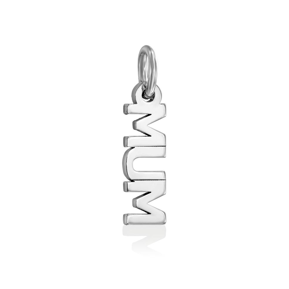 Mum/Mamie Charm in Sterling Silver for Linda Necklace