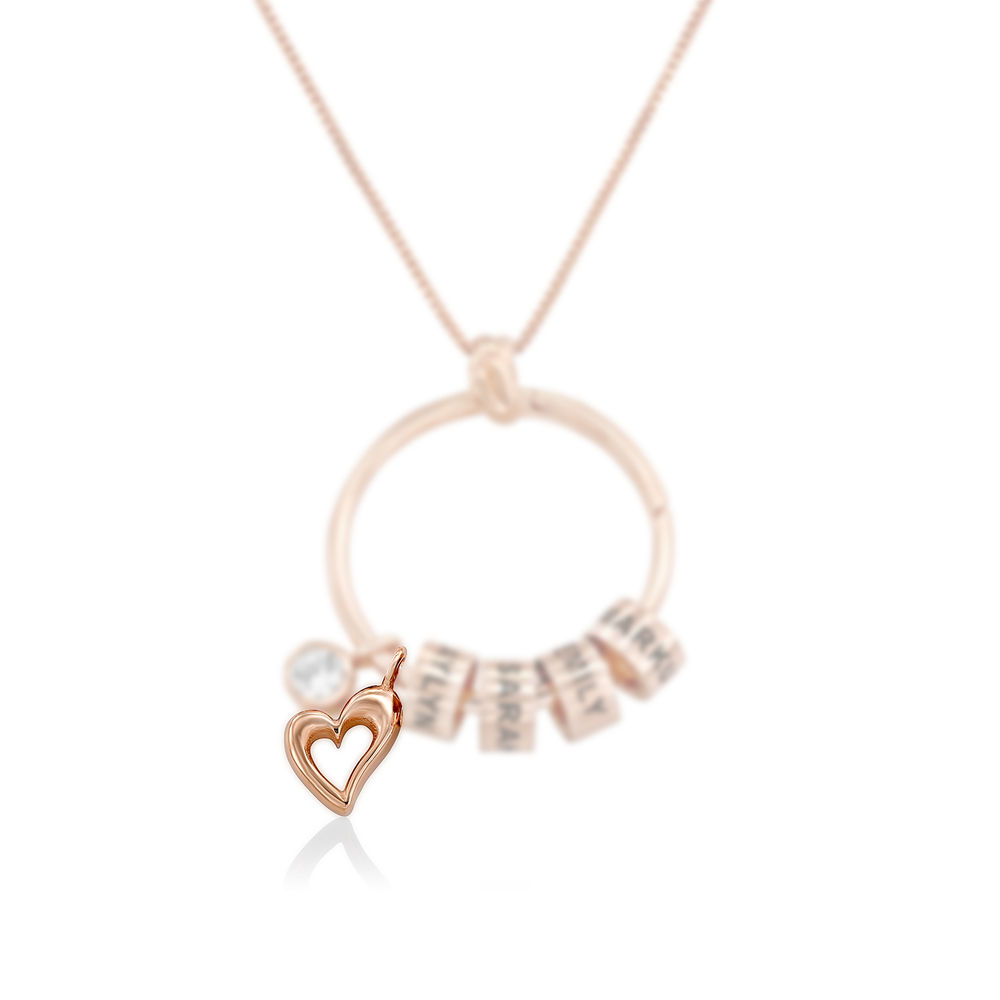 Heart Charm in Rose Gold Plating for Linda Necklace - 1