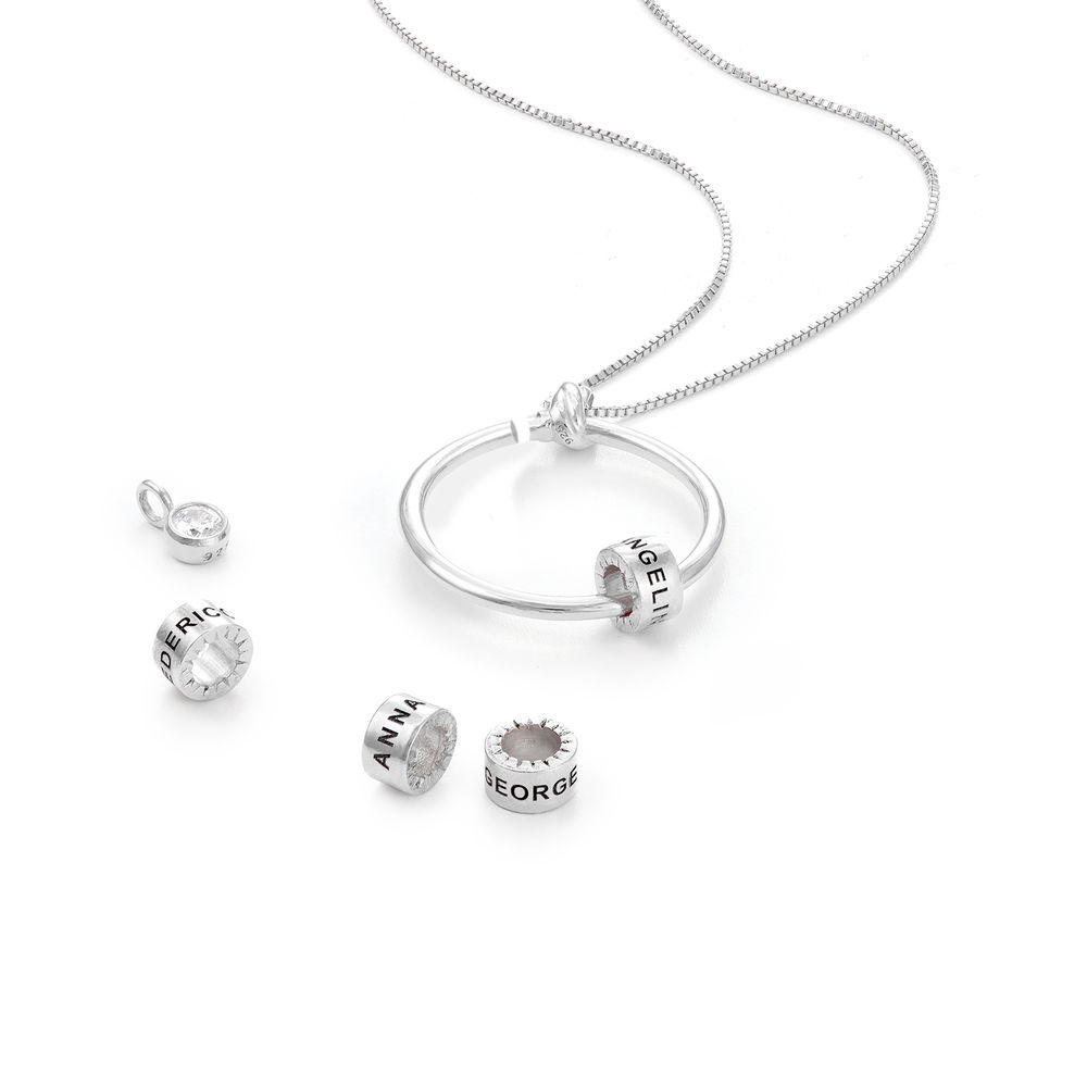 Breast Cancer Awareness Charm in Sterling Silver For Linda Necklace - 1