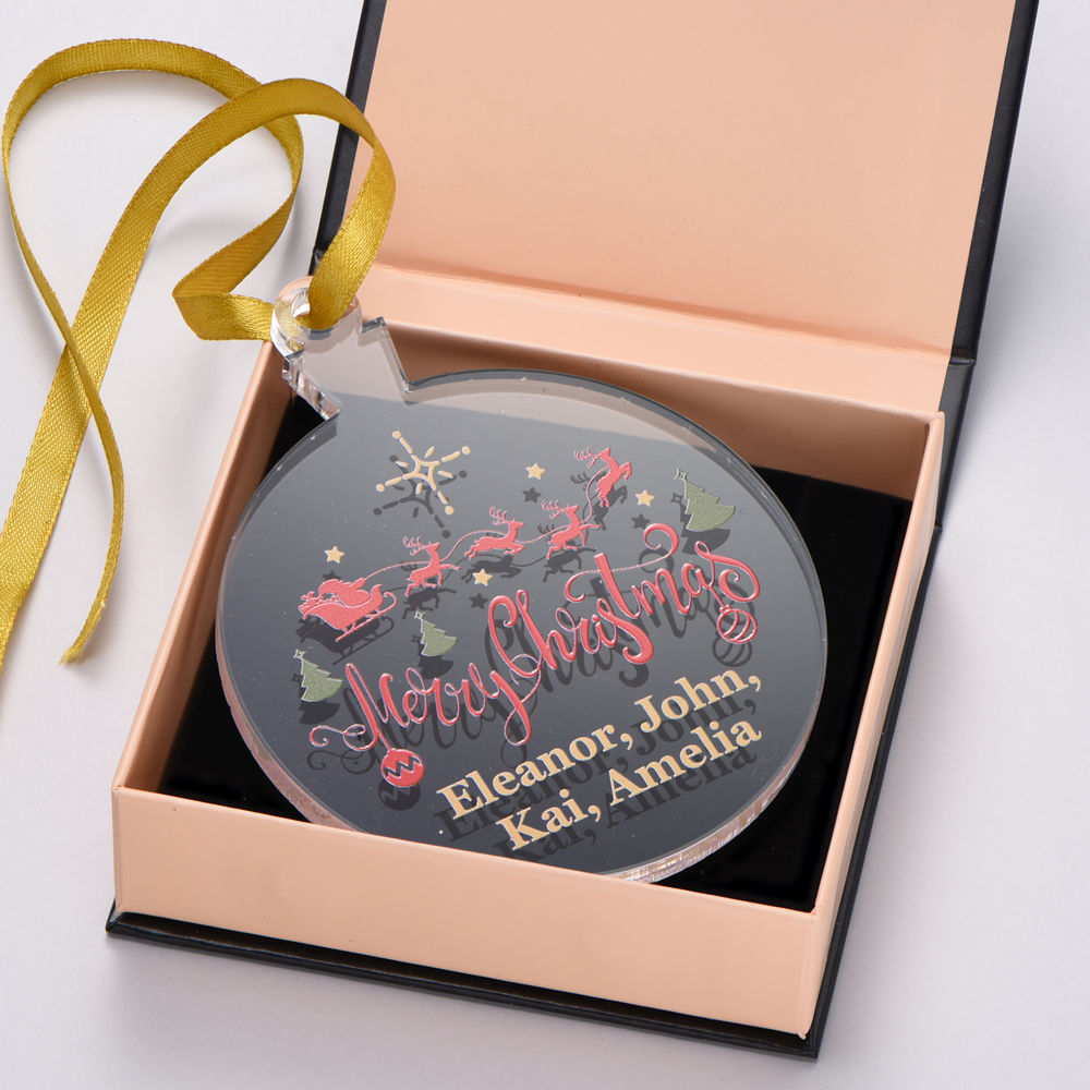 Custom Family Christmas Ornament- Personalize with Multiple Names