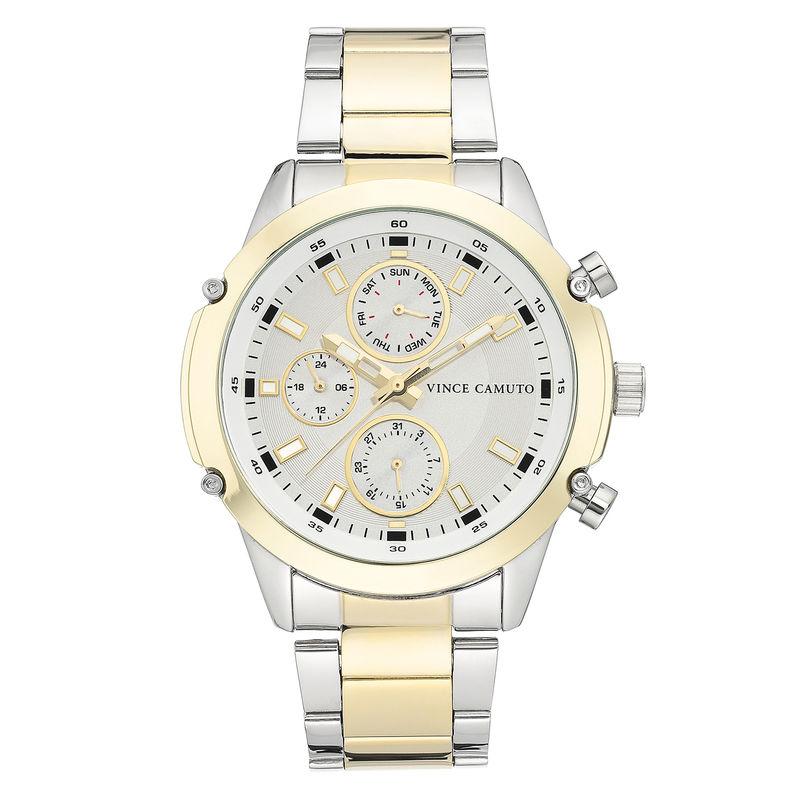Vince Camuto Men's Two-Tone Gold Bracelet Watch