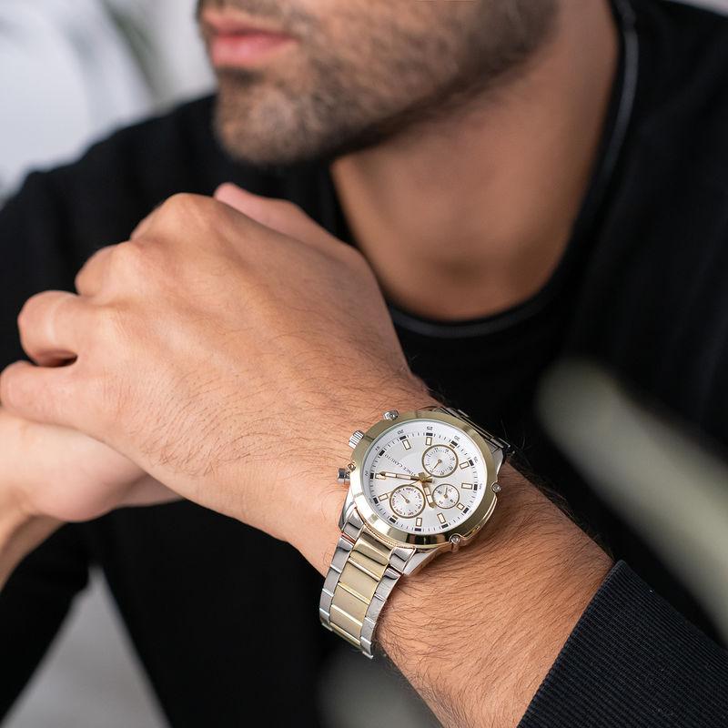 Vince Camuto Men's Two-Tone Gold Bracelet Watch - 3
