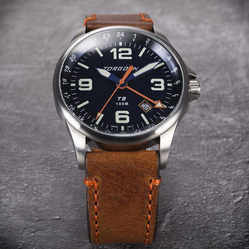 Torgoen Men's Watch T9 BLUEBIRD GMT - 2