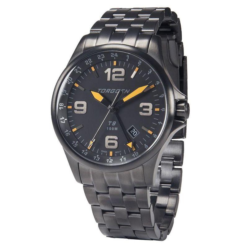 Torgoen Men's Watch T9 BLACKBIRD METAL GMT