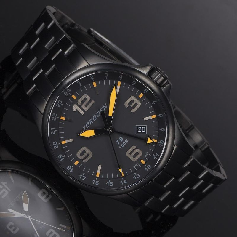 Torgoen Men's Watch T9 BLACKBIRD METAL GMT - 2