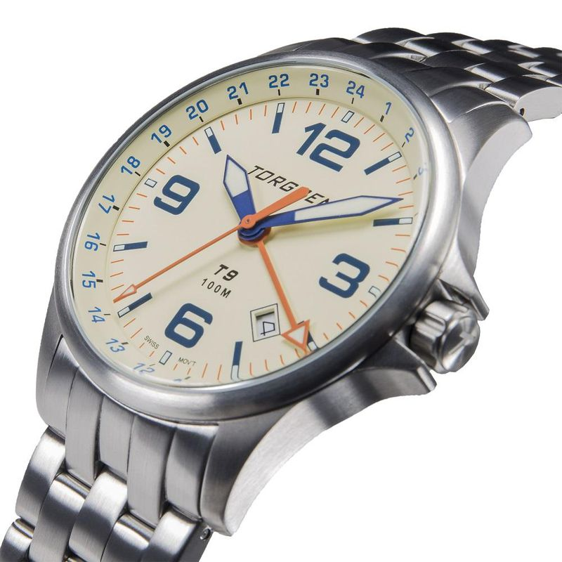 Torgoen Men's Watch T9 LAZULI METAL GMT - 1